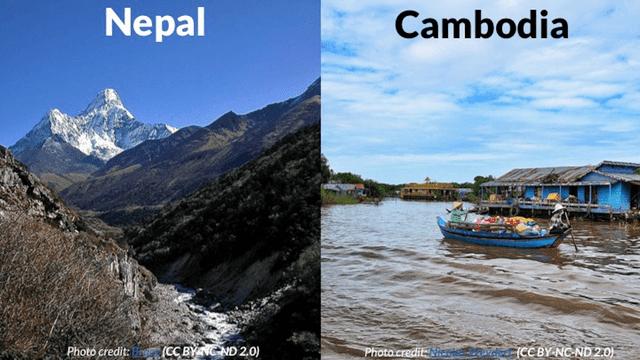 cambodia vs nepal_data standards_DG