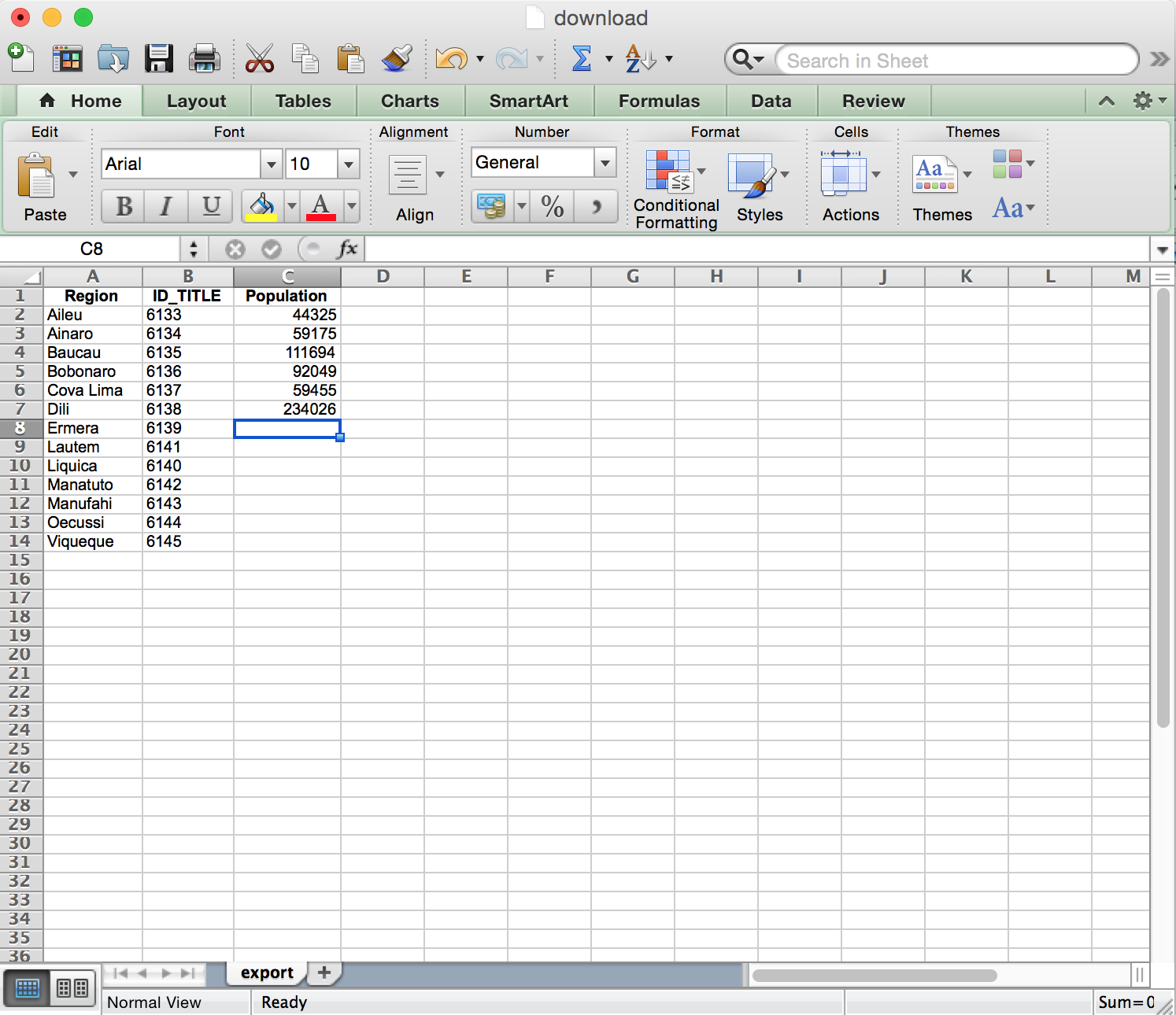 Adding statistical data