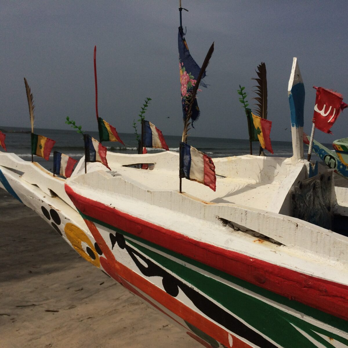 Boat with flags
