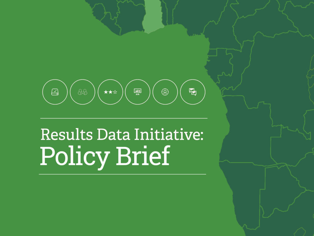 Results Data Initiative: Policy Brief