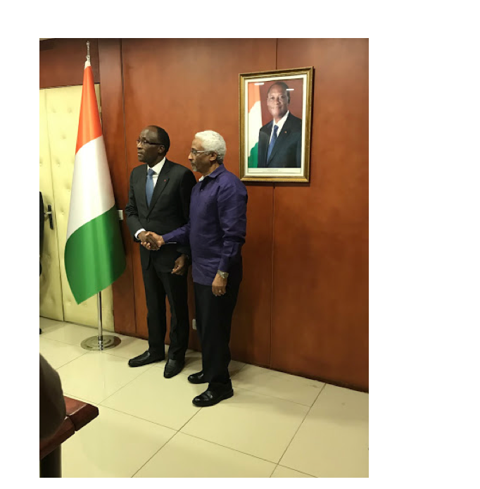 H.E. Minister Adama Kone of the Ministry of Economy and Finance, Côte d'Ivoire and Mr. Marc Anglade, Director of CAED, Ministry of Planning, Haiti