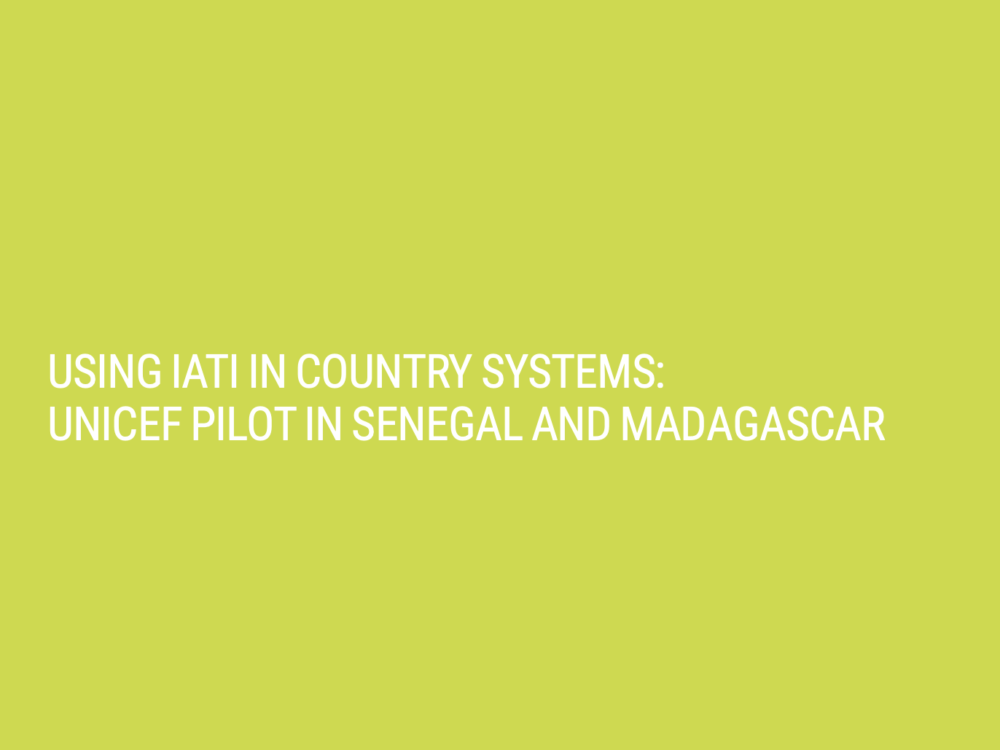 International Aid Transparency Initiative (IATI) Implementation Reports