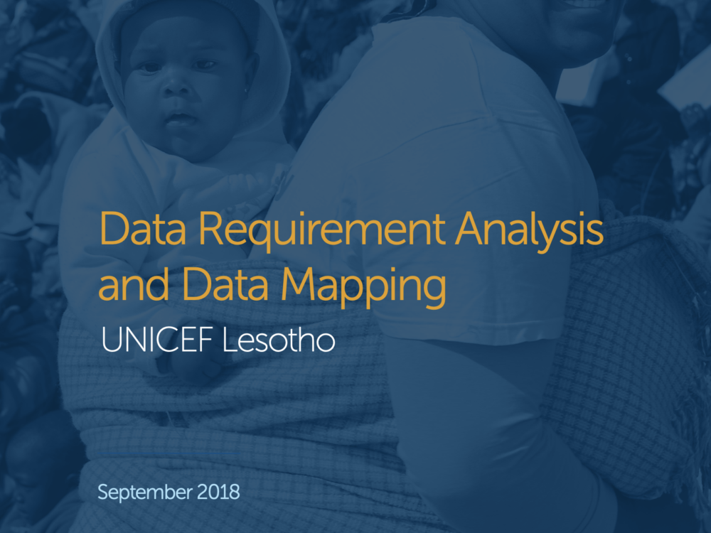 Data for Children Landscape Diagnostic: UNICEF Lesotho