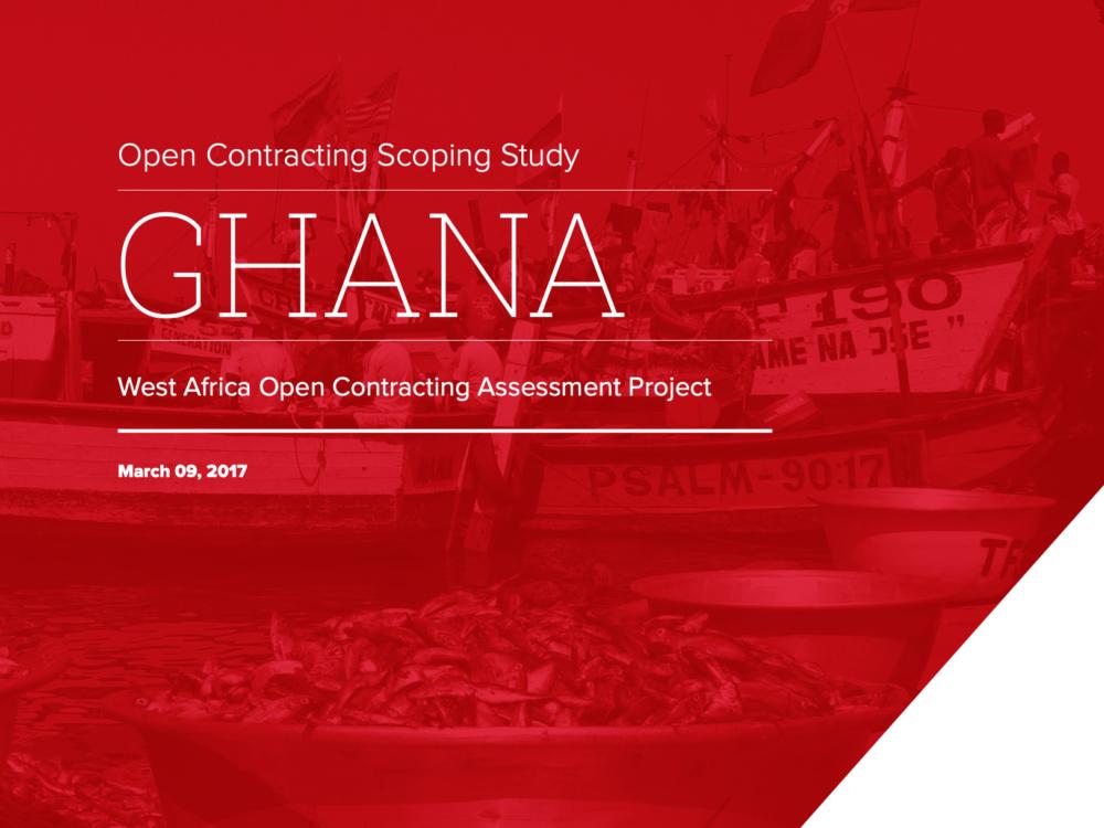 Open Contracting West Africa: Ghana Report