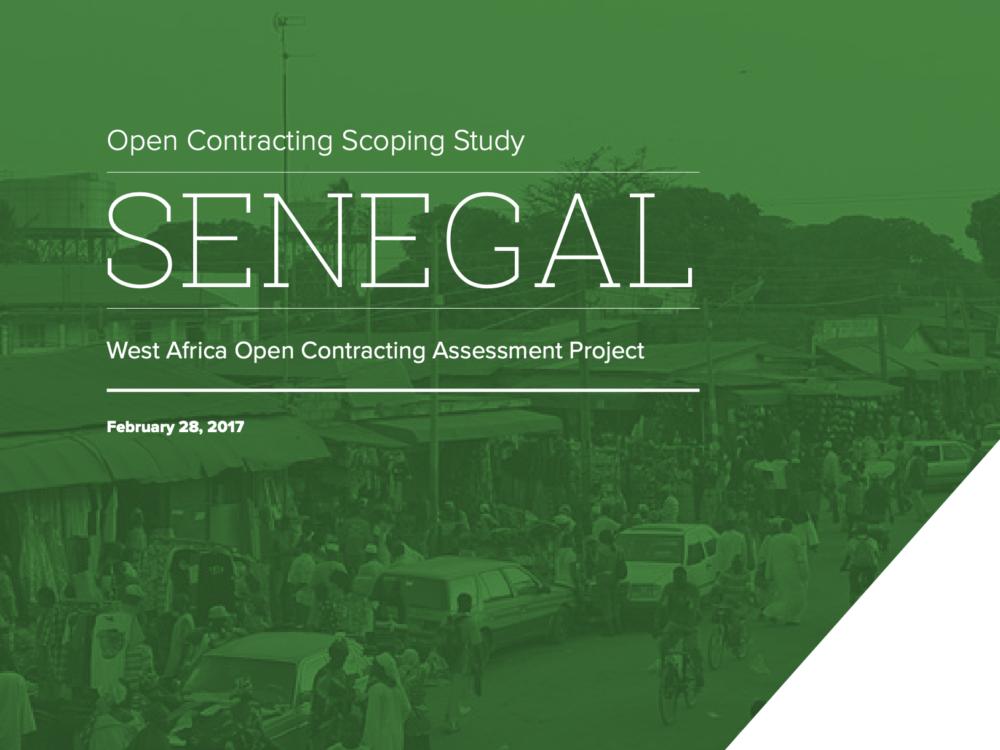 Open Contracting West Africa: Senegal Report
