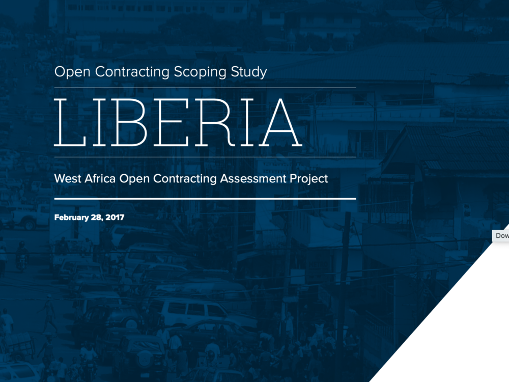 Open Contracting West Africa: Liberia