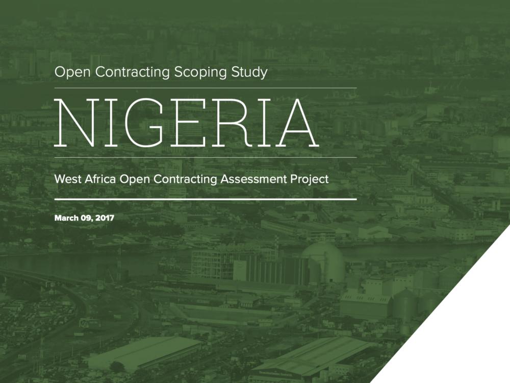 Open Contracting West Africa: Nigeria Report
