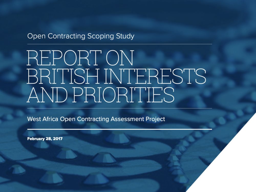 Open Contracting West Africa: British Interests