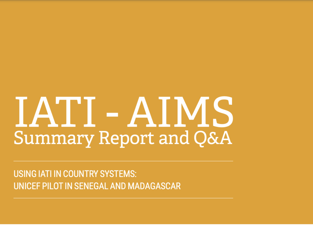IATI-AIMS Summary Report and Q&A