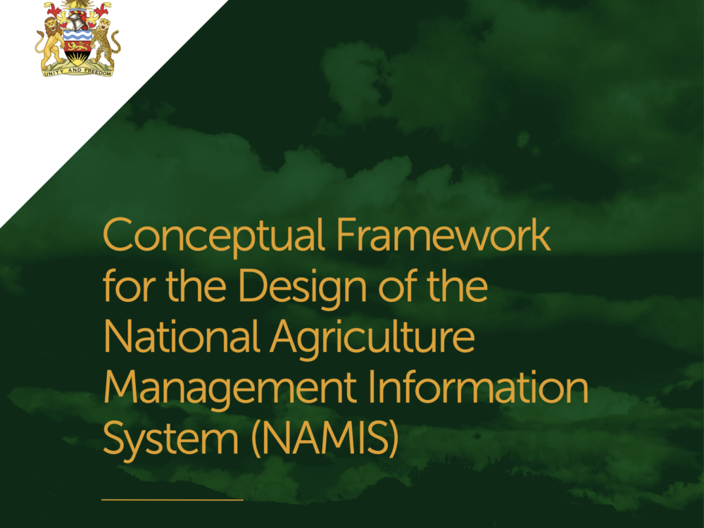 Conceptual Framework for the Design of the National Agriculture Management Information System (NAMIS)