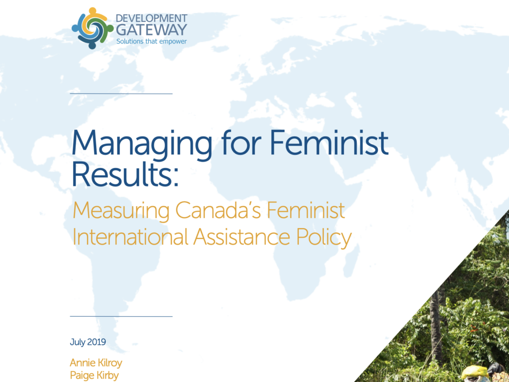Managing for Feminist Results: Measuring Canada's Feminist International Assistance