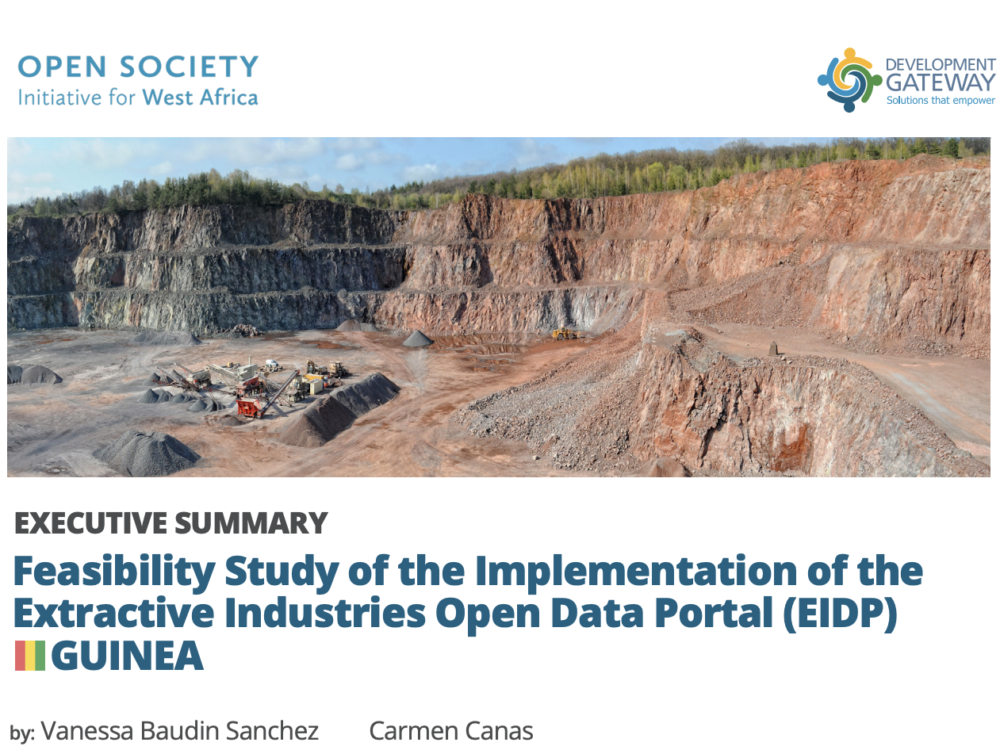 Executive Summary: Feasibility Study of the Implementation of the Extractive Industries Open Data Portal (EIDP)